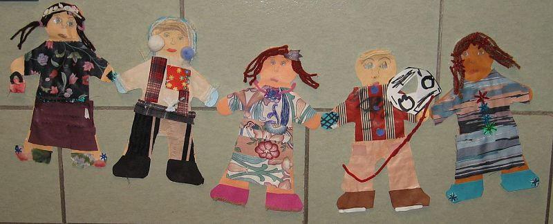 """Culturally Diverse Paper People"" By 2nd Grade Students"