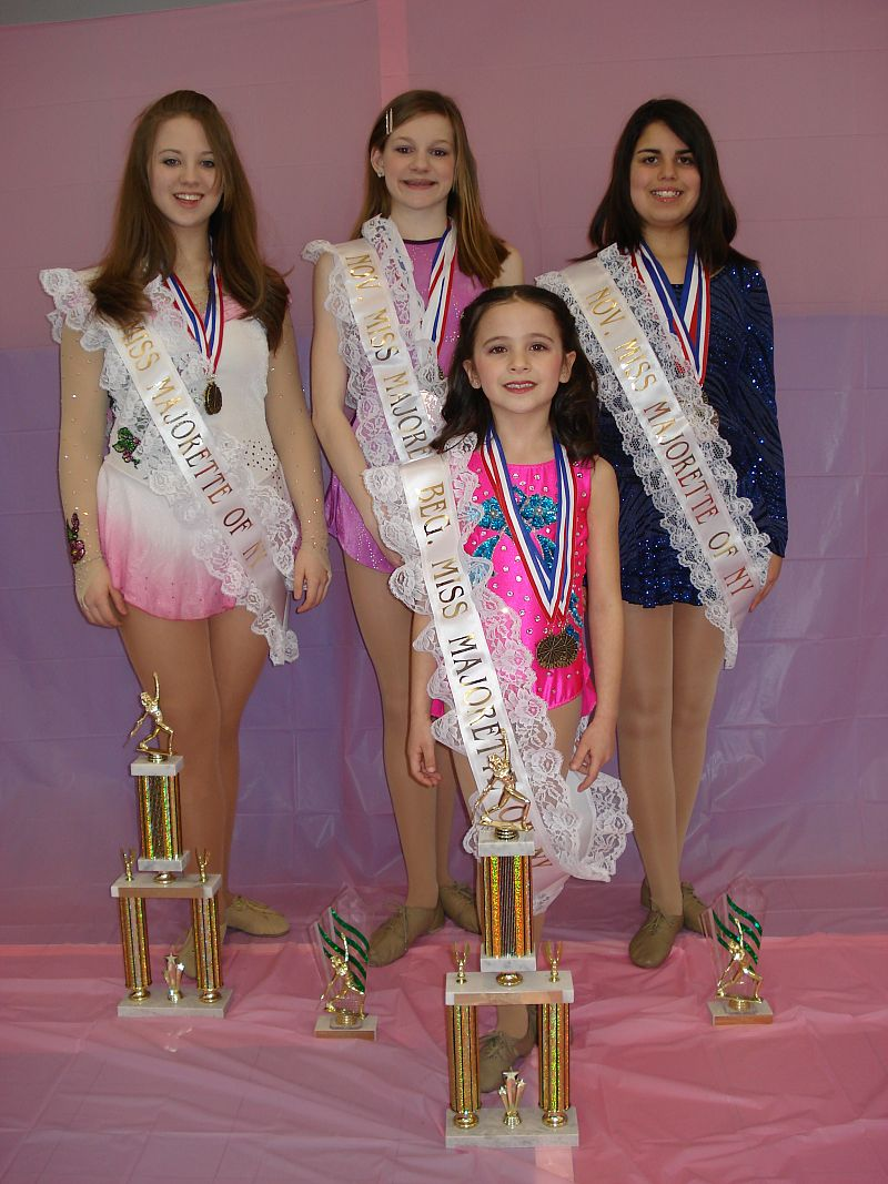 awarded trophies and sashes in the Miss Majorette of New York Pageant